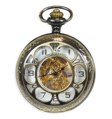 Sprockets Mechanical Pocket Watch - Antique Gold