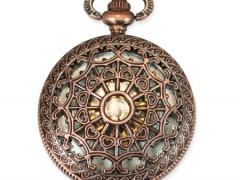 Mechanical Pocket Watch - Antique Brass Lacy Design