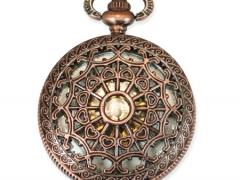 Mechanical Pocket Watch - Antique Brass Lacy Design
