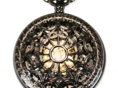 Mechanical Pocket Watch - Lacy Black Pearl