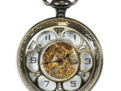 Sprockets Mechanical Pocket Watch - Antique Gold
