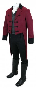 Sovereign Regency Tailcoat - Burgundy