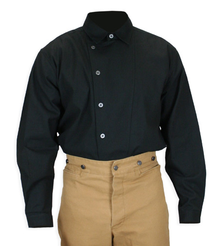 Men's Cotton Work Shirt – Floyd in Black