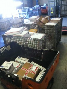Dozens of customer orders, safely on their way!