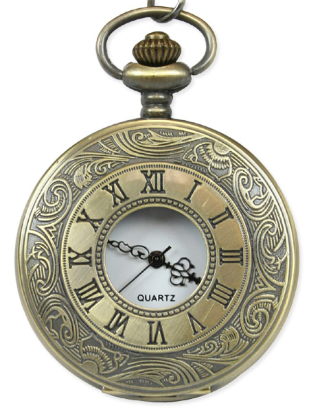 Inscribed Window Pocket Watch - Antique Gold