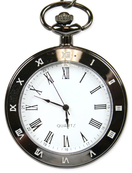 Mechanical Pocket Watch - Silver Hinged Case