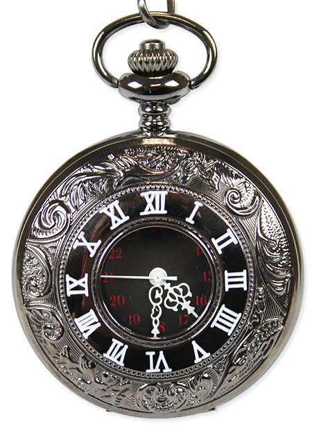 Inscribed Window Pocket Watch - Black
