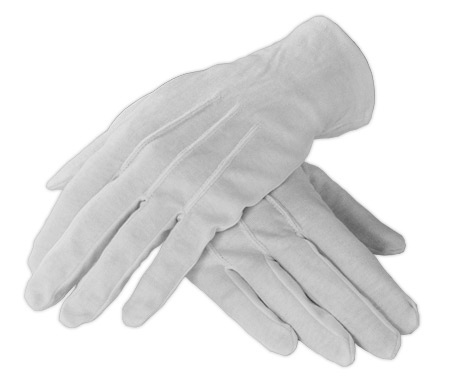 Victorian Mens Accessories White Synthetic Solid Gloves |Antique Vintage Old Fashioned Wedding Theatrical Reenacting Costume | Fancy Nanny and Chimneysweep