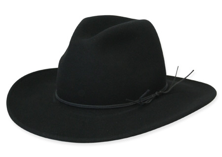 Victorian Old West Mens Hats Black Wool Felt Slouch Wide Brim |Antique Vintage Fashioned Wedding Theatrical Reenacting Costume |