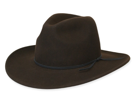 Victorian Old West Mens Hats Brown Wool Felt Slouch Wide Brim |Antique Vintage Fashioned Wedding Theatrical Reenacting Costume | Lawman