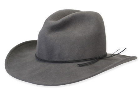 Victorian Old West Mens Hats Gray Wool Felt Slouch Wide Brim |Antique Vintage Fashioned Wedding Theatrical Reenacting Costume |