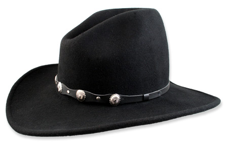 Old West Mens Hats Black Wool Felt Wide Brim |Antique Vintage Fashioned Wedding Theatrical Reenacting Costume |