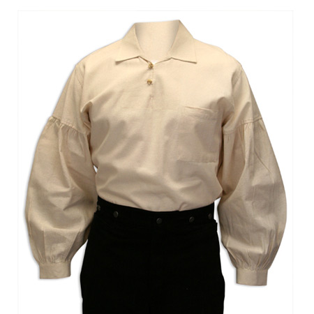 Victorian Old West Steampunk Mens Shirts Ivory Cotton Solid Work |Antique Vintage Fashioned Wedding Theatrical Reenacting Costume |