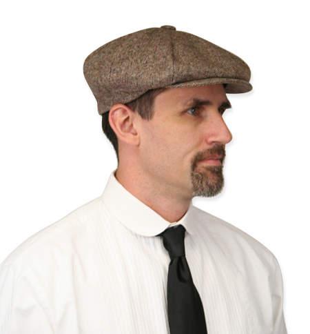 Newsboy Cap - Brown Wool Tweed