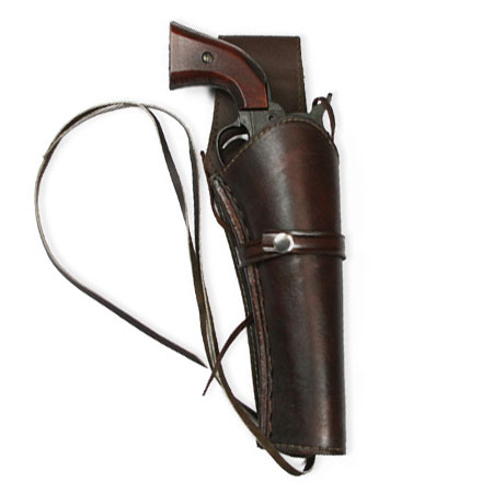 Old West Holsters and Gunbelts Brown Leather Un-Tooled |Antique Vintage Fashioned Wedding Theatrical Reenacting Costume |