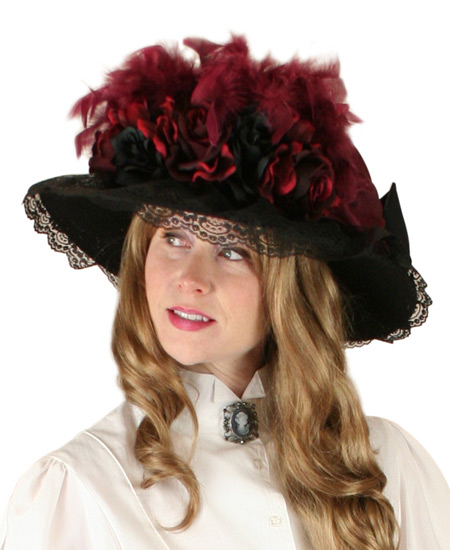 f134f89ea8b69  4 Rated Frontier Ladies Hat Victorian Touring Hat - Burgundy