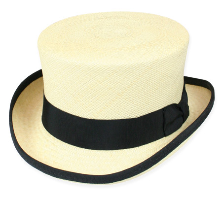 Victorian Old West Mens Hats Ivory Straw Top |Antique Vintage Fashioned Wedding Theatrical Reenacting Costume |