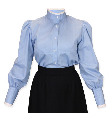 1249b023f5bae2  7 Rated Victorian Blouse Muriel Pleated Blouse - Blue