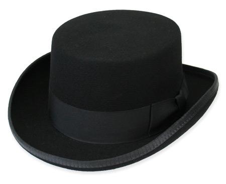 134327b6 Victorian,Old West,Steampunk,Regency, Mens Hats Black Wool Felt Top Hats