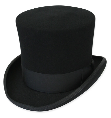 Victorian Top Hat, Black [000479]