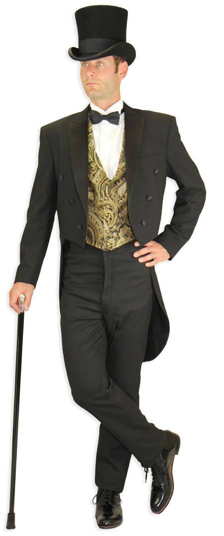 Silver Victorian Male Fashion