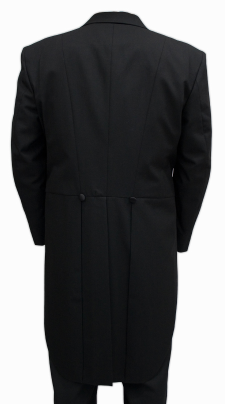 Victorian Formal Tailcoat - Black Wool