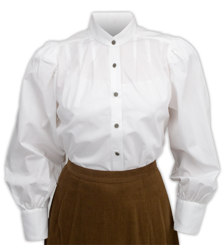 Womens White Victorian Blouse 23