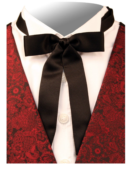 Deluxe Western Bow Tie Black