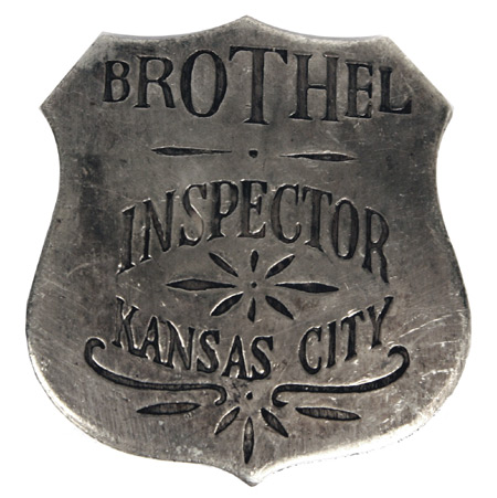 1800s Mens Silver Alloy Badge | 19th Century | Historical | Period Clothing | Theatrical || Premium Old West Badge - Kansas City Brothel Inspector