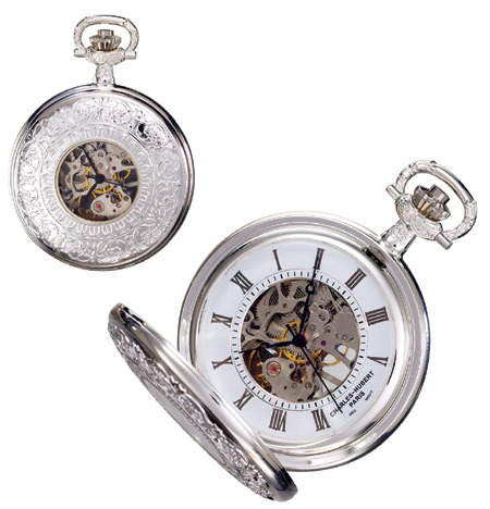 Sterling Silver Mechanical Pocketwatch :  victorian silver pocket watch watc
