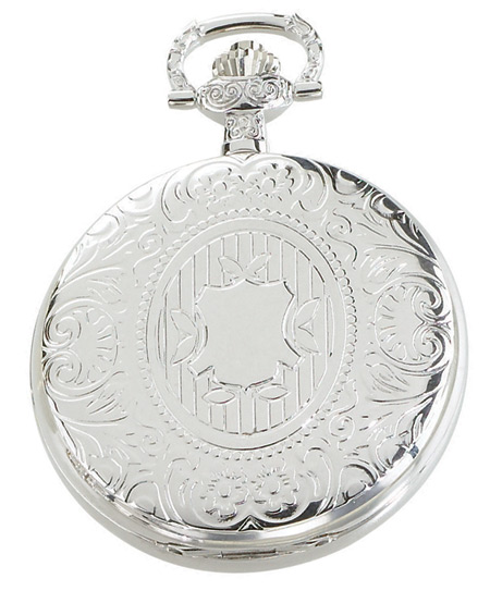 Victorian Mens Silver Alloy Mechanical Watch | Dickens | Downton Abbey | Edwardian || Premium Silver Flair Mechanical Pocket Watch with Chain