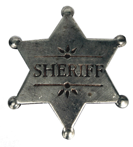 Vintage Mens Silver Alloy Badge | Romantic | Old Fashioned | Traditional | Classic || Premium Old West Badge - Sheriff