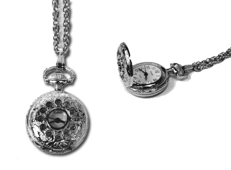 Ladies Watch Pendant - Silver, Numbers Visible :  ladies pendan victorian watch