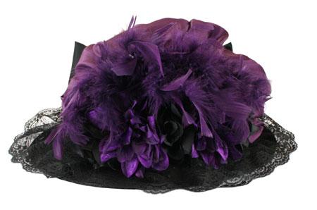 Victorian Touring Hat, Plum [001656]