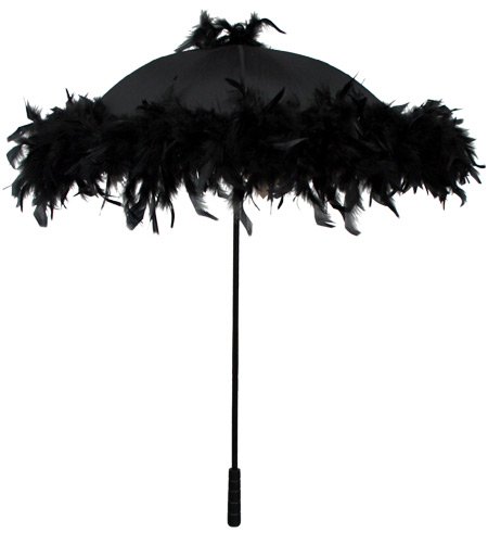 Parasol, Black Feather