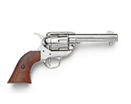 dd53e904580 1873 Colt Peacemaker Pistol Replica - Nickel