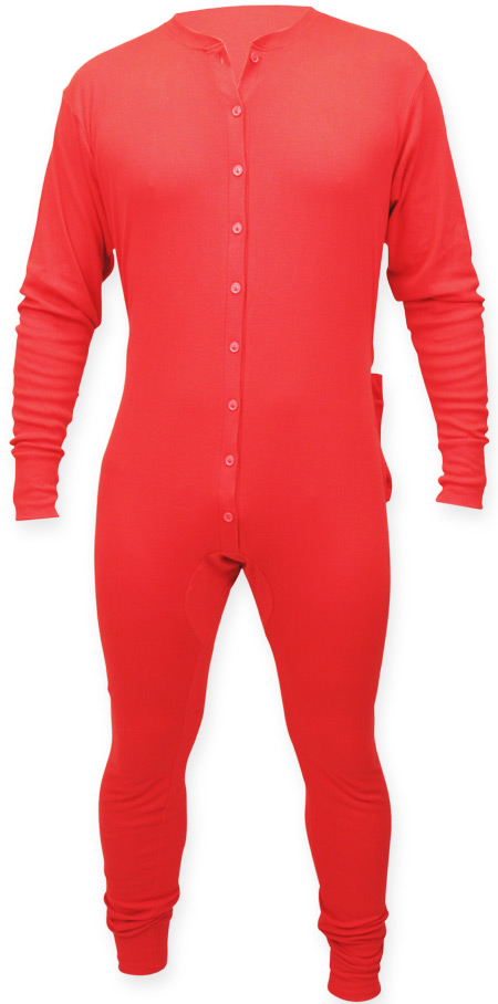 7c5ce1cfb Vintage Mens Red Solid Long John
