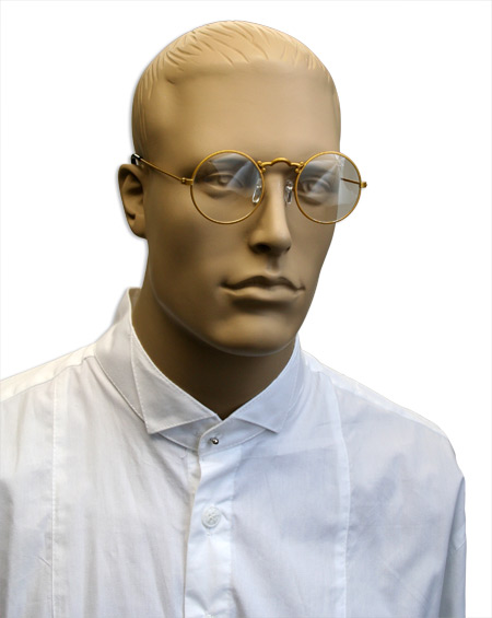 Wedding Mens Gold Alloy,Plastic Spectacles | Formal | Bridal | Prom | Tuxedo || Old Fashioned Spectacles - Clear