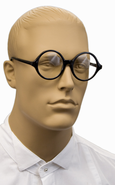 Victorian Mens Black Alloy,Plastic Spectacles | Dickens | Downton Abbey | Edwardian || Professor Spectacles