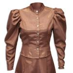 Victorian,Old West, Ladies Blouses Brown Synthetic Solid Blouses,Suit Separates |Antique, Vintage, Old Fashioned, Wedding, Theatrical, Reenacting Costume |