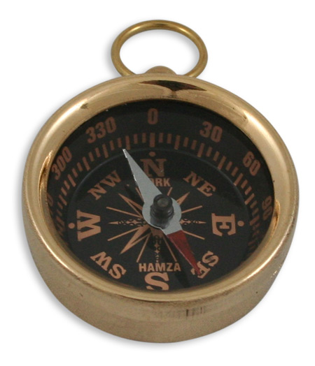 Wedding Mens Brass Brass Compass | Formal | Bridal | Prom | Tuxedo || Brass Pocket Compass