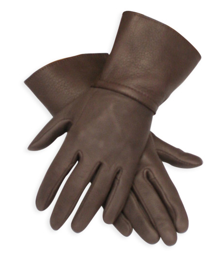 6dcd804ecb54 Victorian,Old West,Steampunk, Mens Accessories Brown Leather Solid  Gauntlets,Gloves