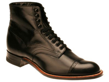 mens lace up boots black leather