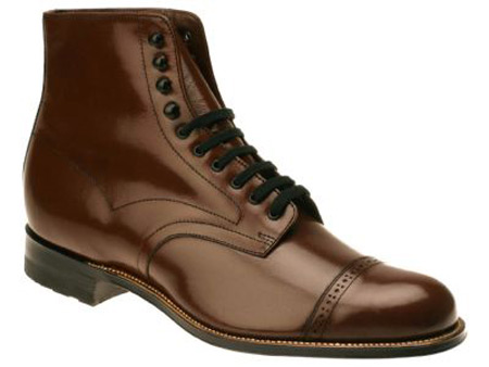 Mens Lace Up Boots - Brown Leather