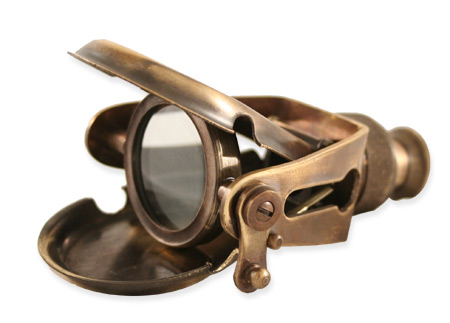 Articulated Folding Brass Monocular Antique Brass