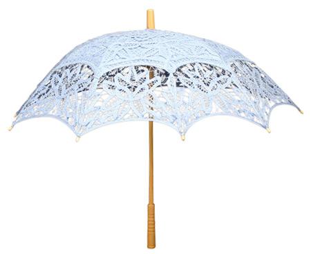 Battenberg Lace Parasol, Light Blue