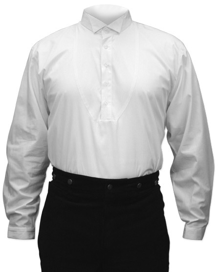 victorian mens dress shirt wing collar