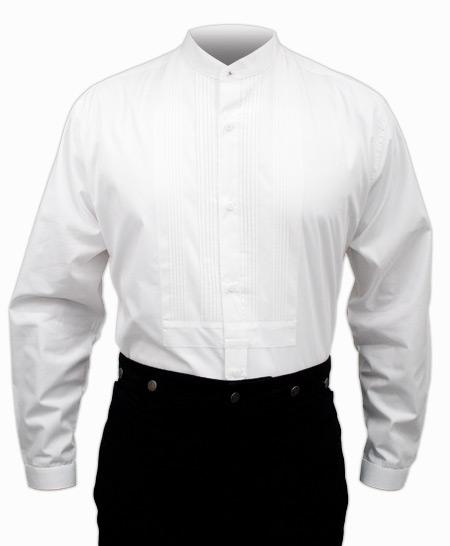 Pleated dress shirt white for Black pleated dress shirt