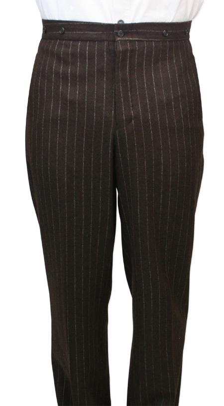 NEW Birmingham Pants Brown Pinstripe