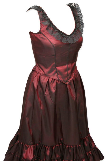 Delilah Saloon Dress Ruby